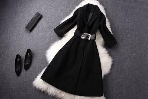 bf345e72daa Черное пальто - как выбрать зимнее и демисезонное по фасону