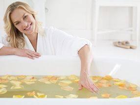Релаксация в травяной ванне