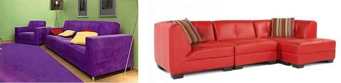 модная расцветка дивана