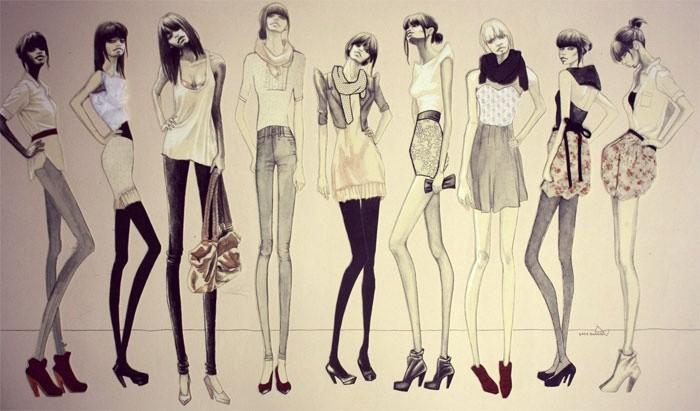 Очень худощавые ноги уже не в моде