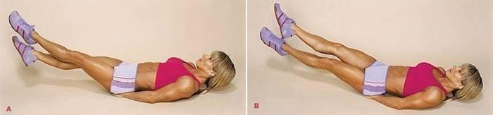 упражнение для бедер из положения лежа