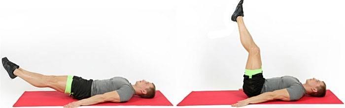 Упражнение с поднятием ног