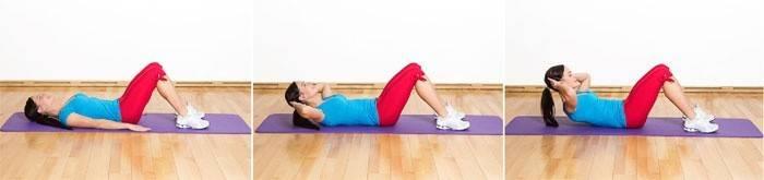 Упражнение для улучшения талии - Пресс