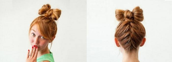 Варианты банта из волос