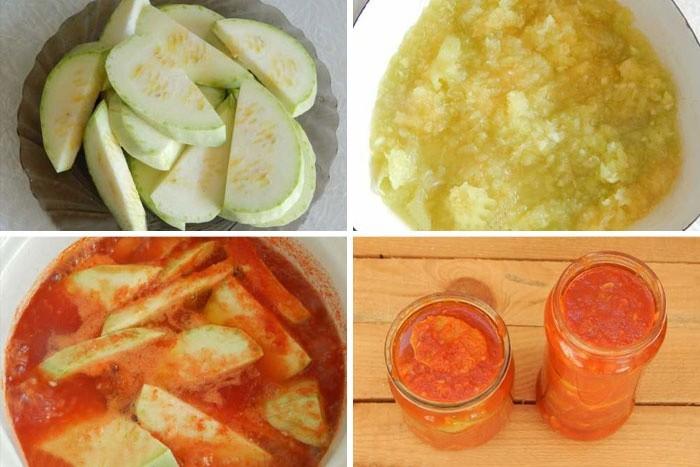 Приготовление салата тещин язык из кабачков