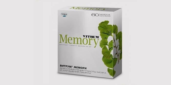 Таблетки «Витрум мемори» для улучшения памяти и работы мозга