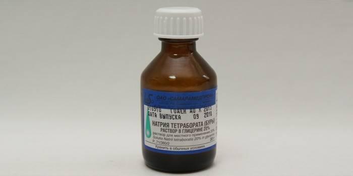 Средство от молочницы для детей: Натрия тетрабората