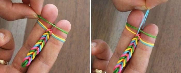 Процесс плетения фенечки