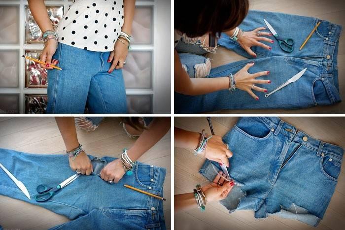 Своими руками делаем шорты из джинсов