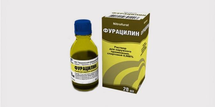 Раствор «Фурациллина» от гноя в горле