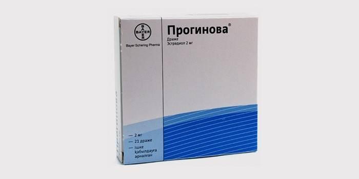 Препарат Прогинова для гормонозаместительной терапии
