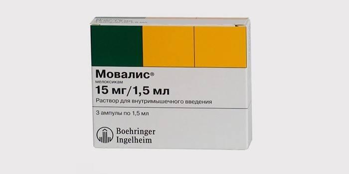 Препарат Мовалис для лечения кисты Бейкера