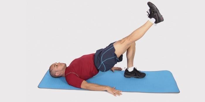 Упражнение для похудения бедер - поднятие ноги