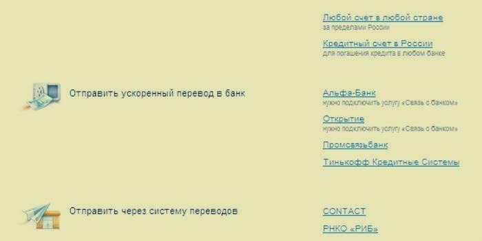 Ускоренный перевод с Яндекс кошелька