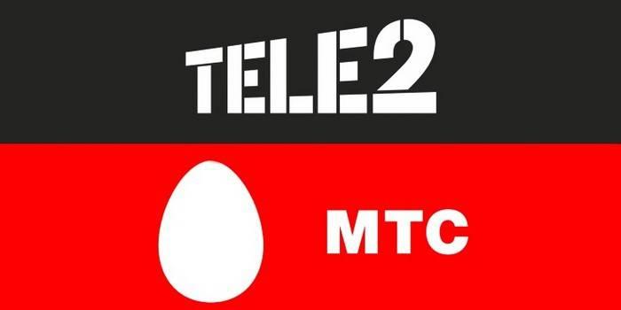 Логотипы Теле2 и МТС