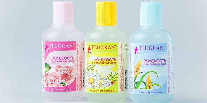 Жидкости для снятия лака в бутылочках