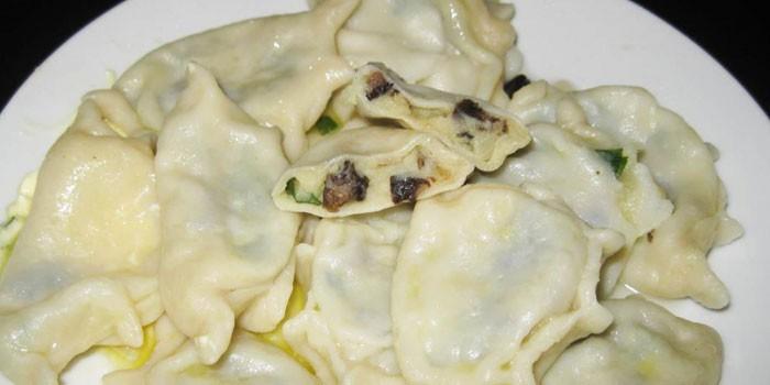 Вареники с вареной картошкой и грибами пошаговый рецепт