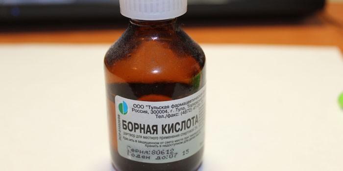 Как разводить порошок борной кислоты для дерматита?
