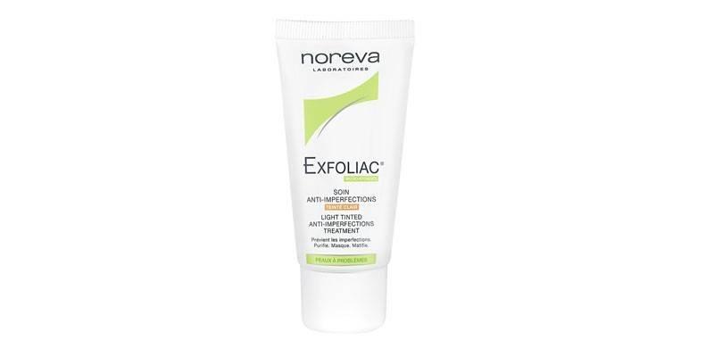Тоналка Exfoliac soin anti-imperfections teinte clair Noreva