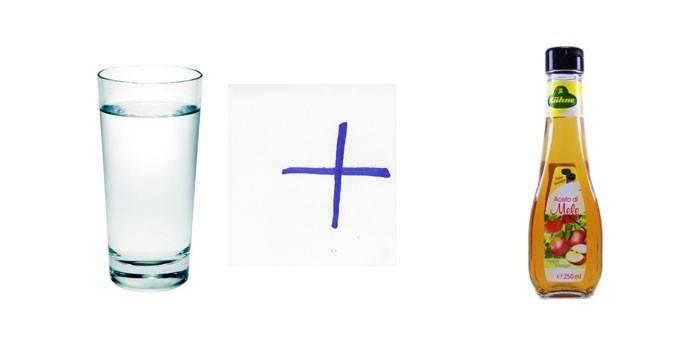 Вода и яблочный уксус