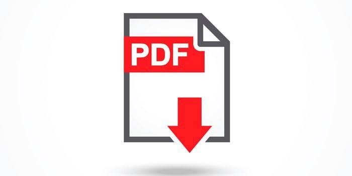 Иконка PDF файла