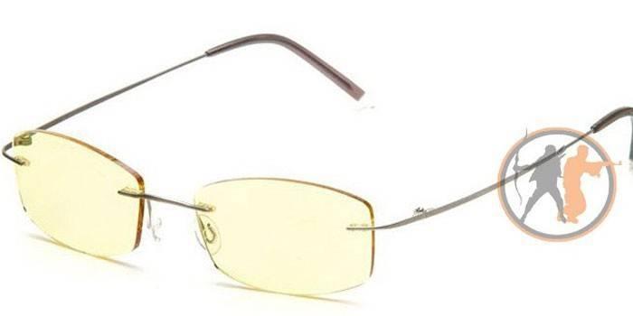 Безоправные защитные очки для компьютера  SP Glasses AF002 titanium