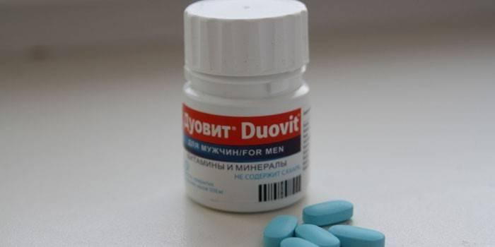Витамины Дуовит для мужчин в баночке