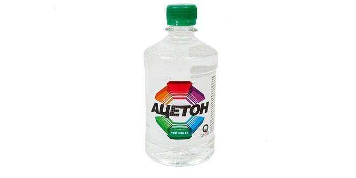 Ацетон в бутылке