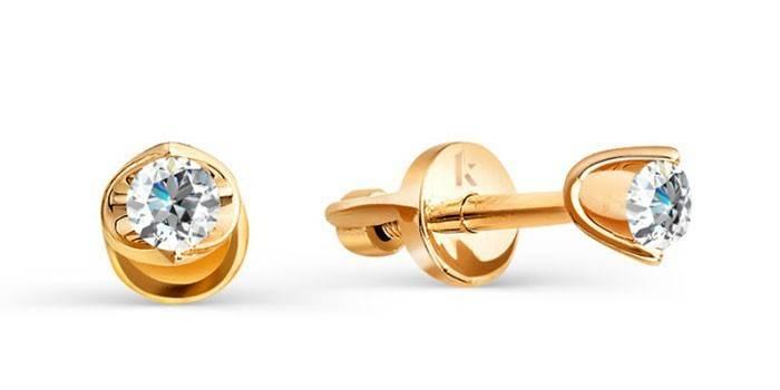 Серьги с бриллиантами (арт. Т101021731)