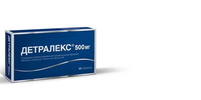 Таблетки Детралекс в упаковке