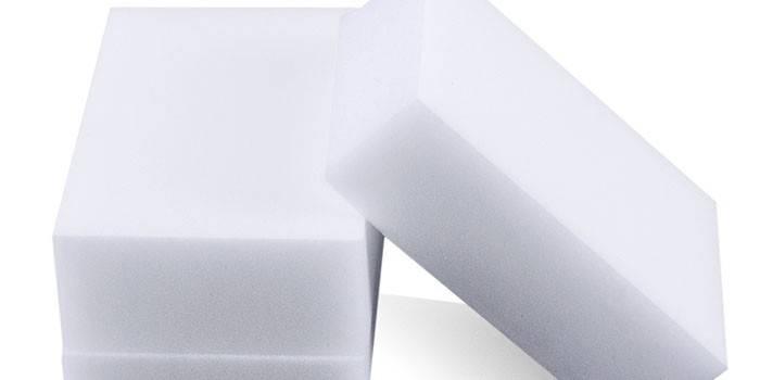 Две меламиновые губки белого цвета