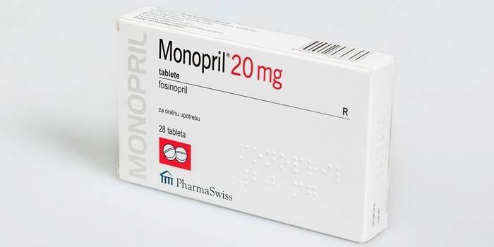 Таблетки Моноприл в упаковке