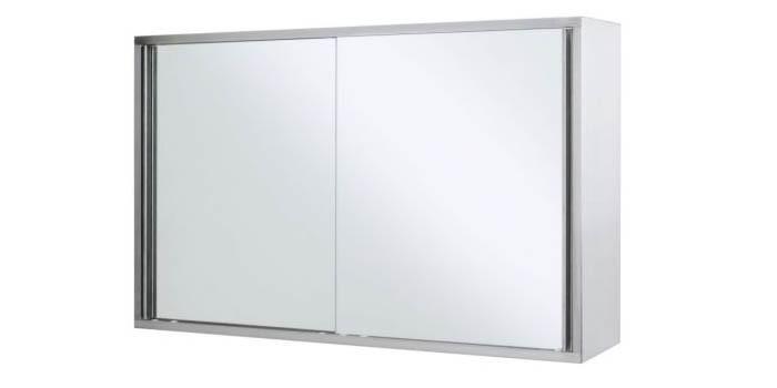Шкафчик для ванной со стеклянными дверьми