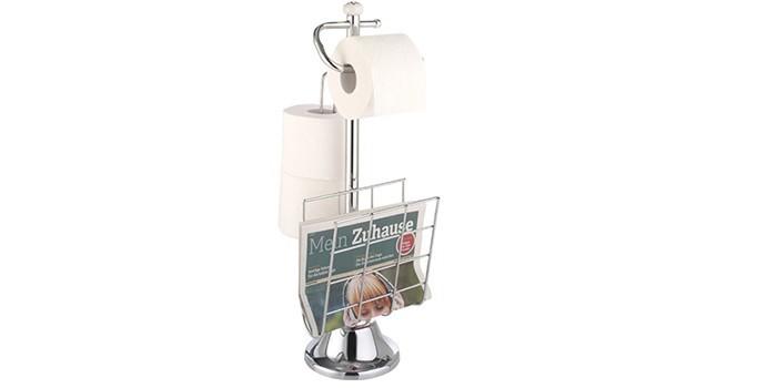 Напольный держатель для туалетной бумаги с газетницей TOP STAR