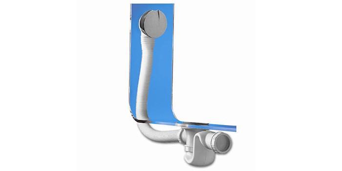 Латунный автоматический сифон для ванны Wirquin, Elton