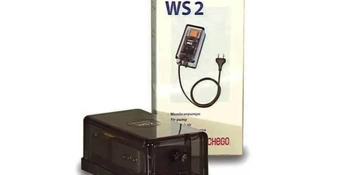 Аквариумный воздушный компрессор SCHEGO WS 2