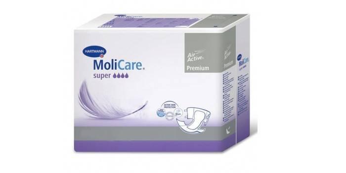 Упаковка подгузников для взрослых Molicare Premium Super Large