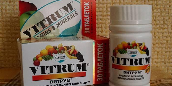 Упаковка витаминов Витрум