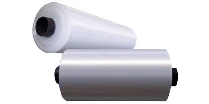 Два рулона термоусадочной пленки из ПВД Диана-Пластик