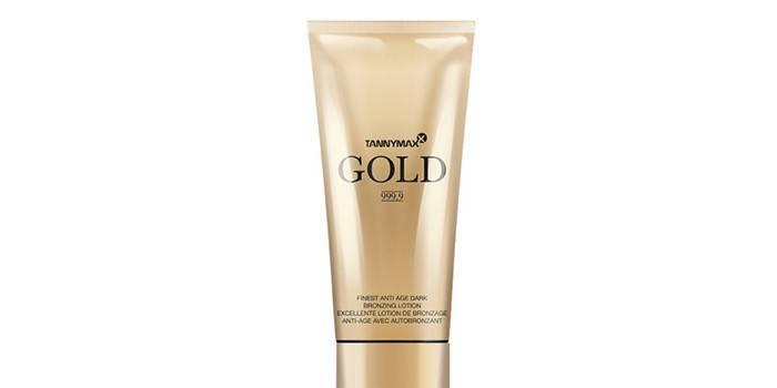 Крем для солярия с бронзатором Gold 999,9 от Tannymax