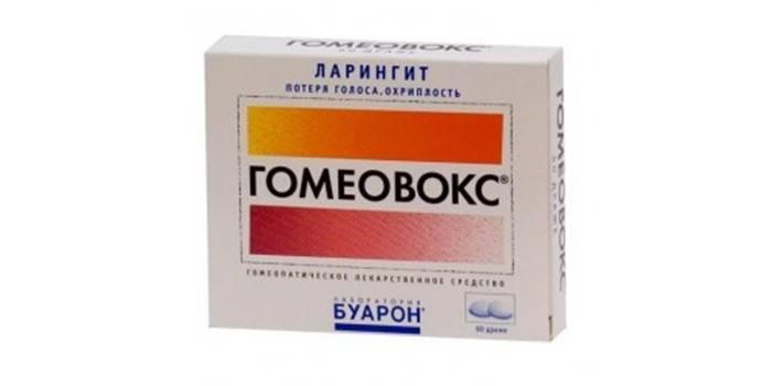 Препарат Гомеовокс в упаковке