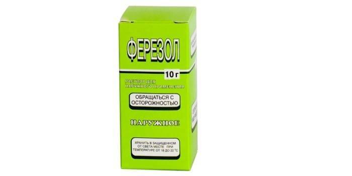 Препарат Ферезол в упаковке