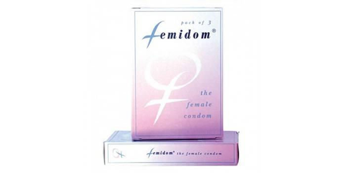 Женские презервативы Фемидом в упаковке