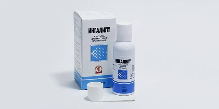 Аэрозоль Ингалипт в упаковке