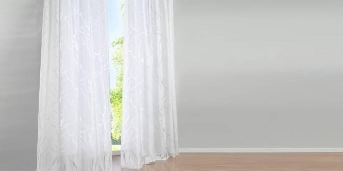 Тюль белого цвета Роя