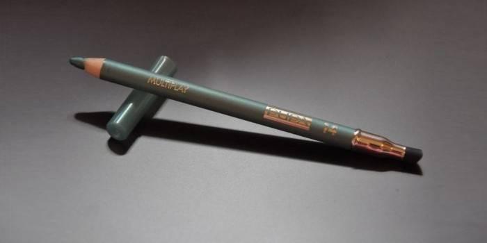 Серый карандаш для глаз с растушевкой