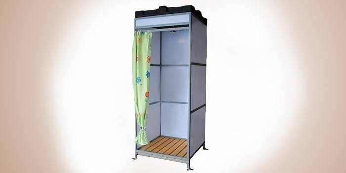 Дачный душ с алюминиевым каркасом Ариэль 09 А-Б150