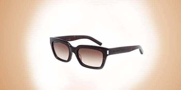 Брендовые прямоугольные мужские очки Yves Saint Laurent