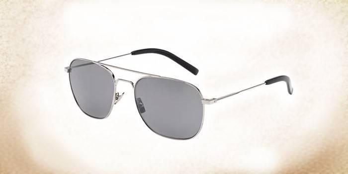 Классические солнцезащитные очки со стеклянными линзамиYves Saint Laurent