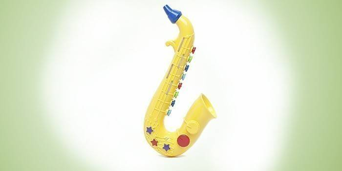 Пластмассовый детский саксофон